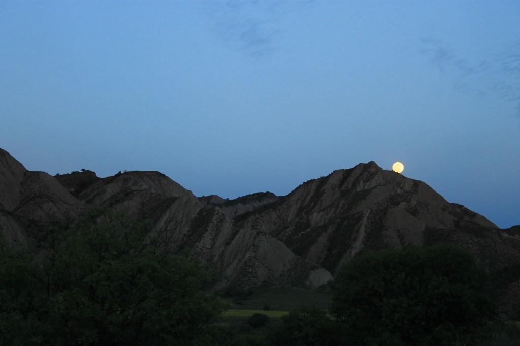 Nightfall on Azerbaijan border.