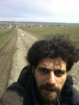 Selfie on the road to Udabno ( Mustafa Shalan)