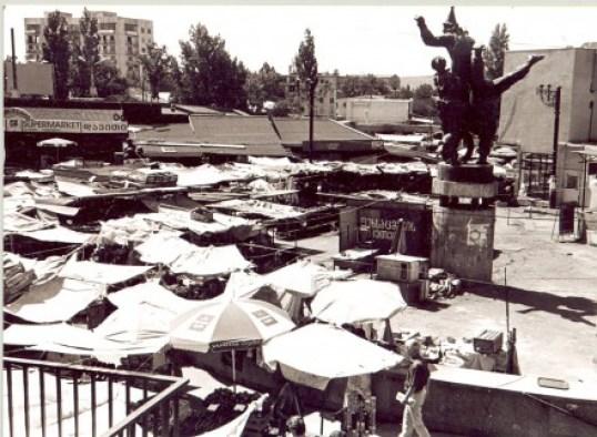 Varketili bazar  - Makeshift market at Varketili metro station in early 2000s  (Paul Manning)