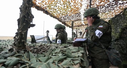 Russian soldiers during military drills