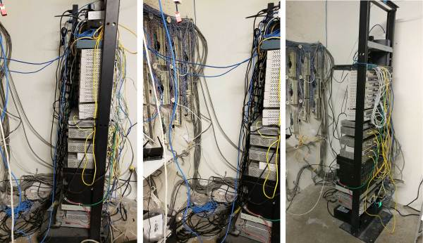 Telco Rack Before / After