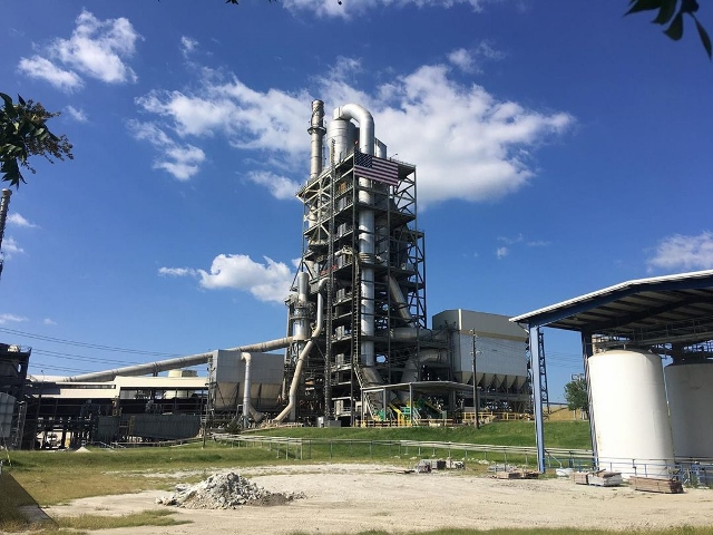 A cement plant in Midlothian, Texas.