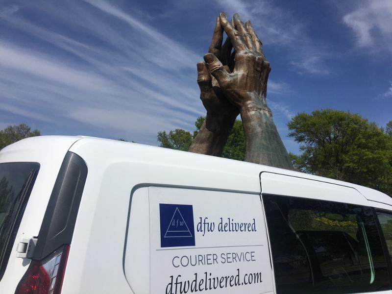 A delivery van in Tulsa, Oklahoma