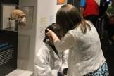 Peixotto puts the virtual reality device on Katy Ottwell.