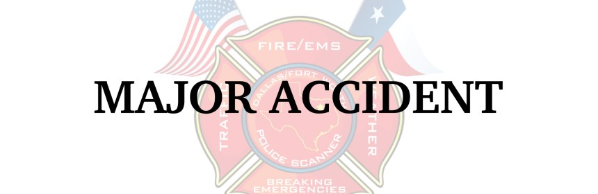 Arlington PD on scene of a major accident