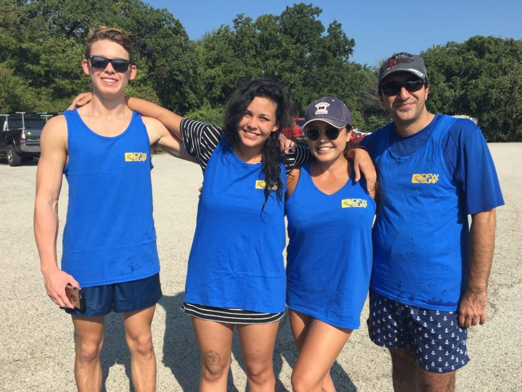 DFW Surf Club Paddle Family