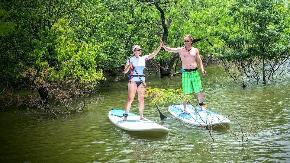 Paddleboard and Kayak Rentals Lake Lewisville at Hidden Cove Park and Marina