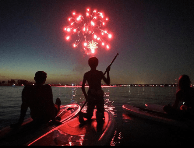 Fireworks Paddleboard Tour Grapevine Lake