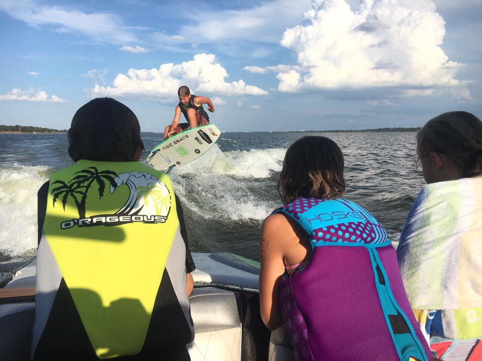 Perry Morrison wakesurfs every Tuesday and kids surf free on Lake Grapevine
