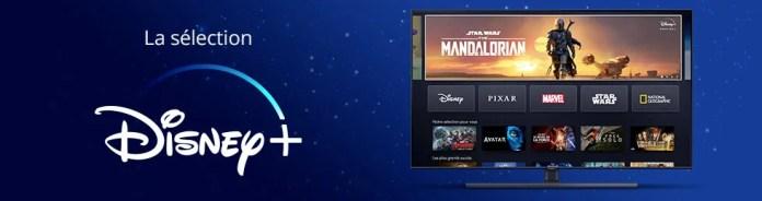 Retrouvez ici la sélection de produits compatibles Disney+
