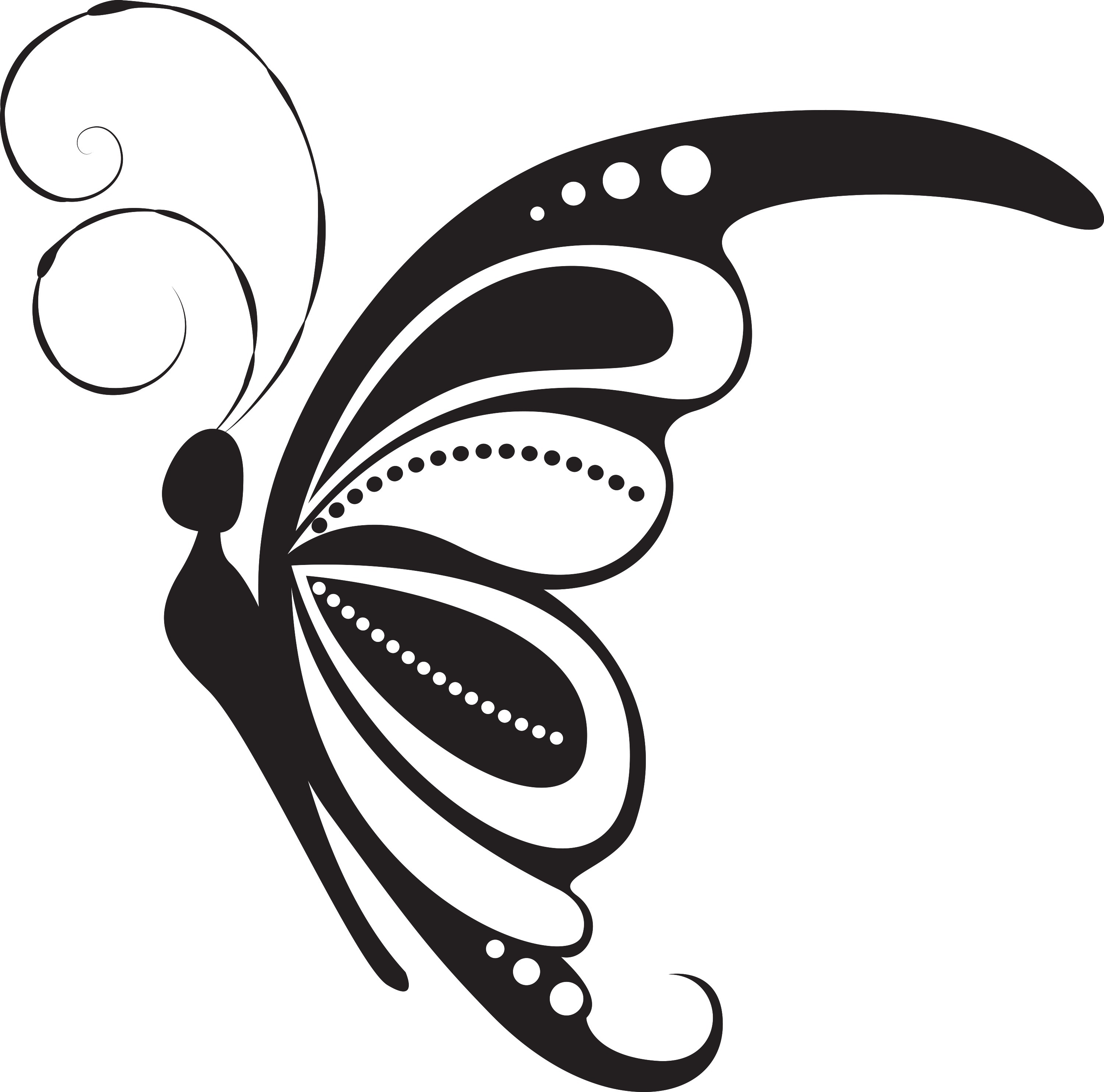 Butterfly Side Vector