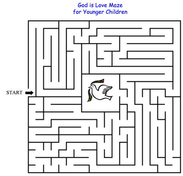 God Is Love Maze