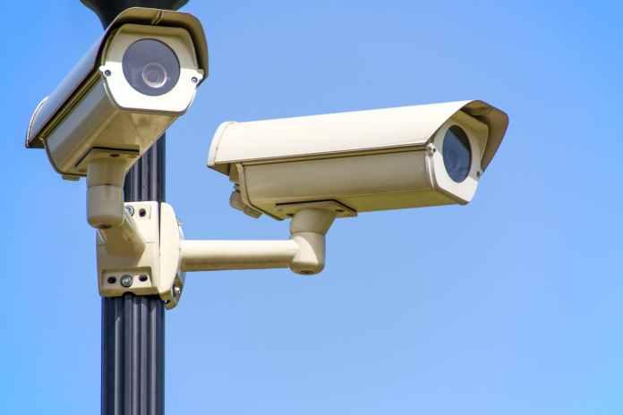 police blue sky security surveillance