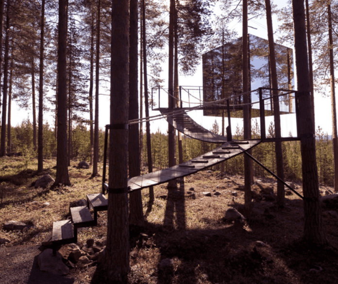 Travel Sweden Stay in Treehouse