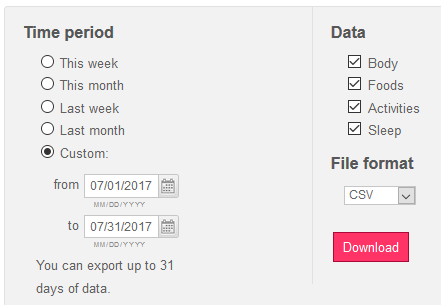 fitbit's download site