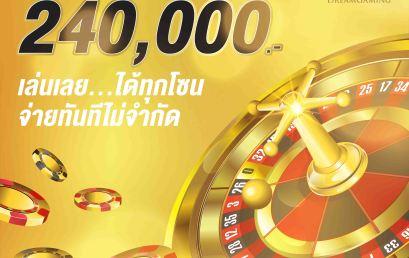 [DG casino] โปรโมชั่น คาสิโนออนไลน์ ชนะเงินติดต่อกัน รับสูงสุด 240,000 บาท