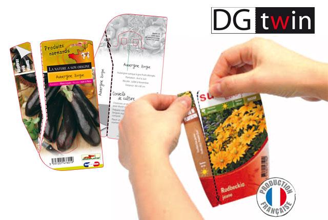 DG twin l'étiquette 2 en 1