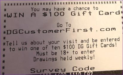 dollar general store receipt