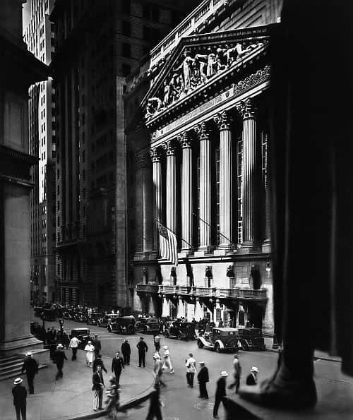 New York Stock Exchange by Berenice Abbott