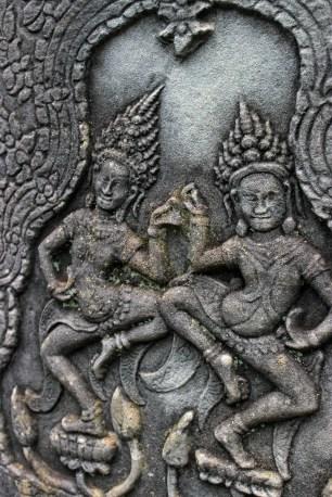 Aspura dancer carvings at Angkor Tom.