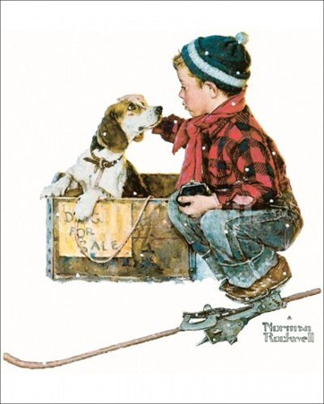 Boy Meets Dog Norman Rockwell Poster Card Buy Online