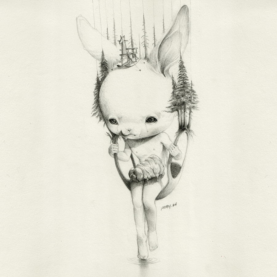Roby-Dwi-Antono-Tire-Swing-and-The-Caterpillar-Pencil-on-paper-27.5-cm-x-27.5-cm-2012-jpg