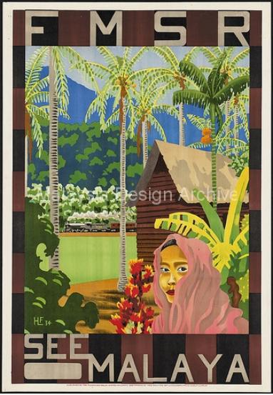 """1934, """"See Malaya"""" Travel Poster"""