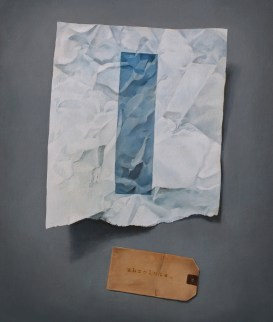"""Absolute: Torn (unframed): oil on panel. 15 1/2"""" x 18 1/8"""". 5.24.11."""