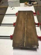 Glueing barn wood
