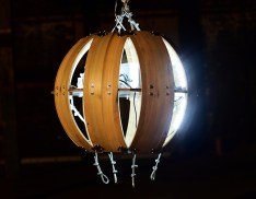 The Living Orb at night (glowing)