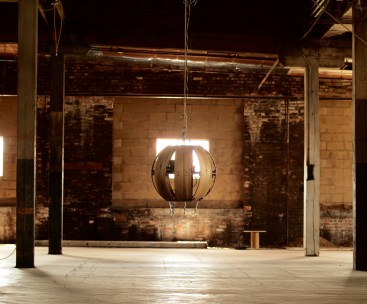 The Living Orb, warehouse installation
