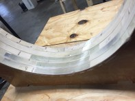 A sealing tape keeps glue from sticking to the mold
