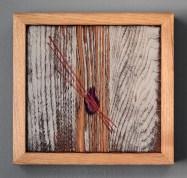 """""""Absolute: Earnest"""", Oil paint on reclaimed oak. 10 7/8"""" x 10 1/4"""". 11.11.15"""