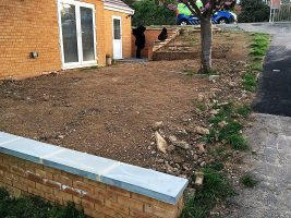 Latest landscaping project in Caversham. December 2016