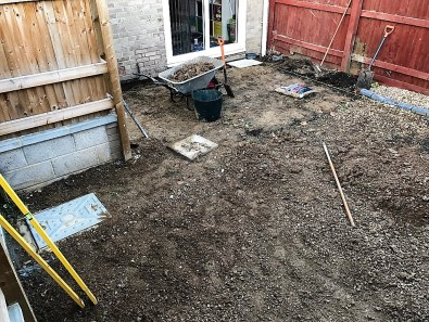 front garden before landscaping