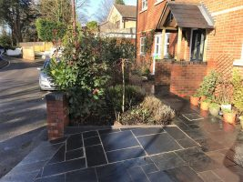 Landscaping in Wokingham. Driveway extension and porch.