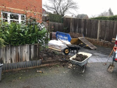 Landscaping in Wokingham. Front driveway extension