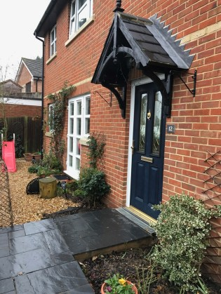 Landscaping in Wokingham. Porch to be extended.