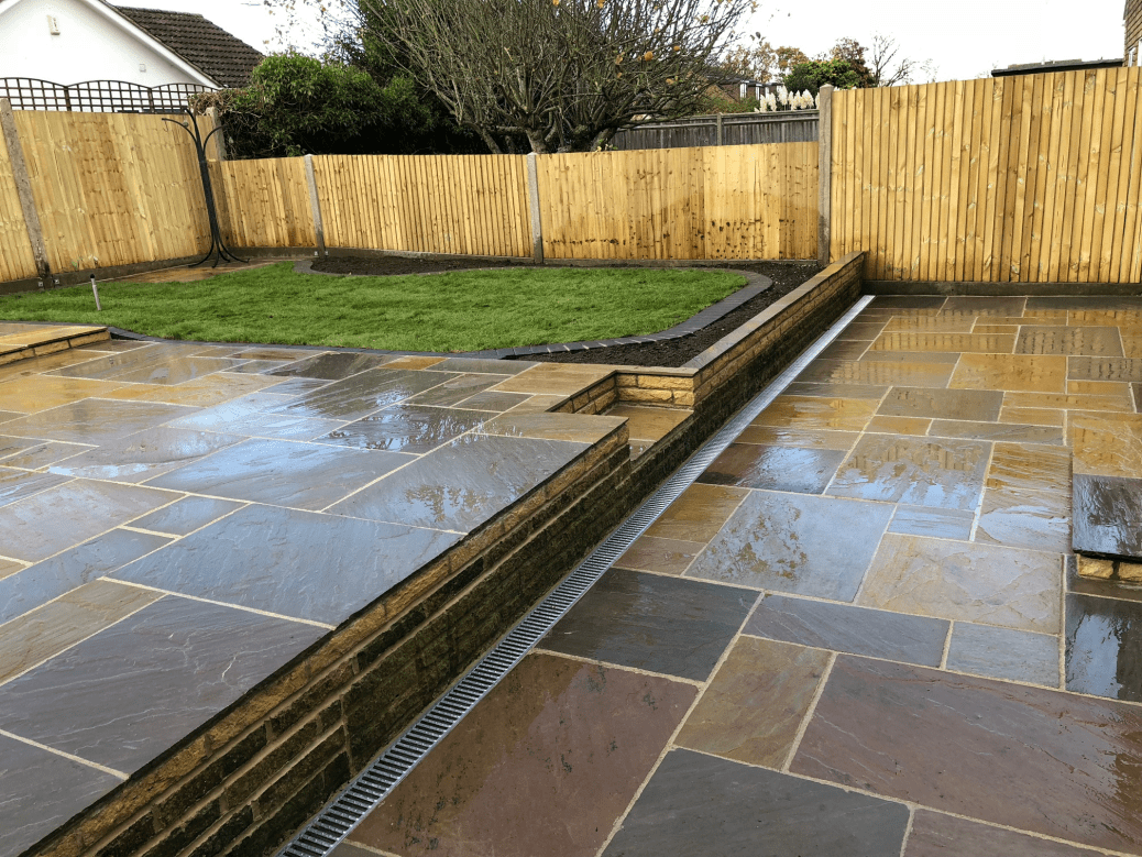 garden landscaped. Landscaping completed in Reading