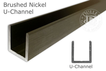 95 Brushed Nickel Deep U Channel For 12 Thick Glass