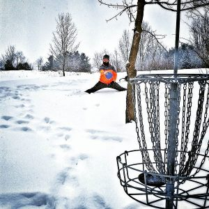 Putting Disc Golf in the Snow
