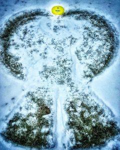 Disc Golf Snow Angel