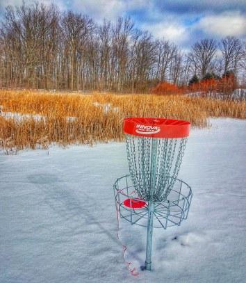 snow disc golf ribbons