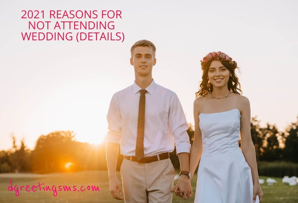 2021 Reasons for Not Attending Wedding (Details)