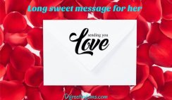 Long Sweet Message For Her