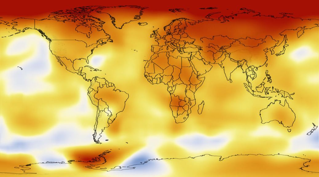 Climate Chaos global warming map