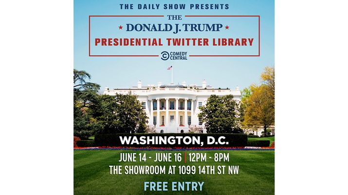 The Daily Show with Trevor Noah Presents: The Donald J. Trump Presidential Twitter Library Heads to Washington, DC