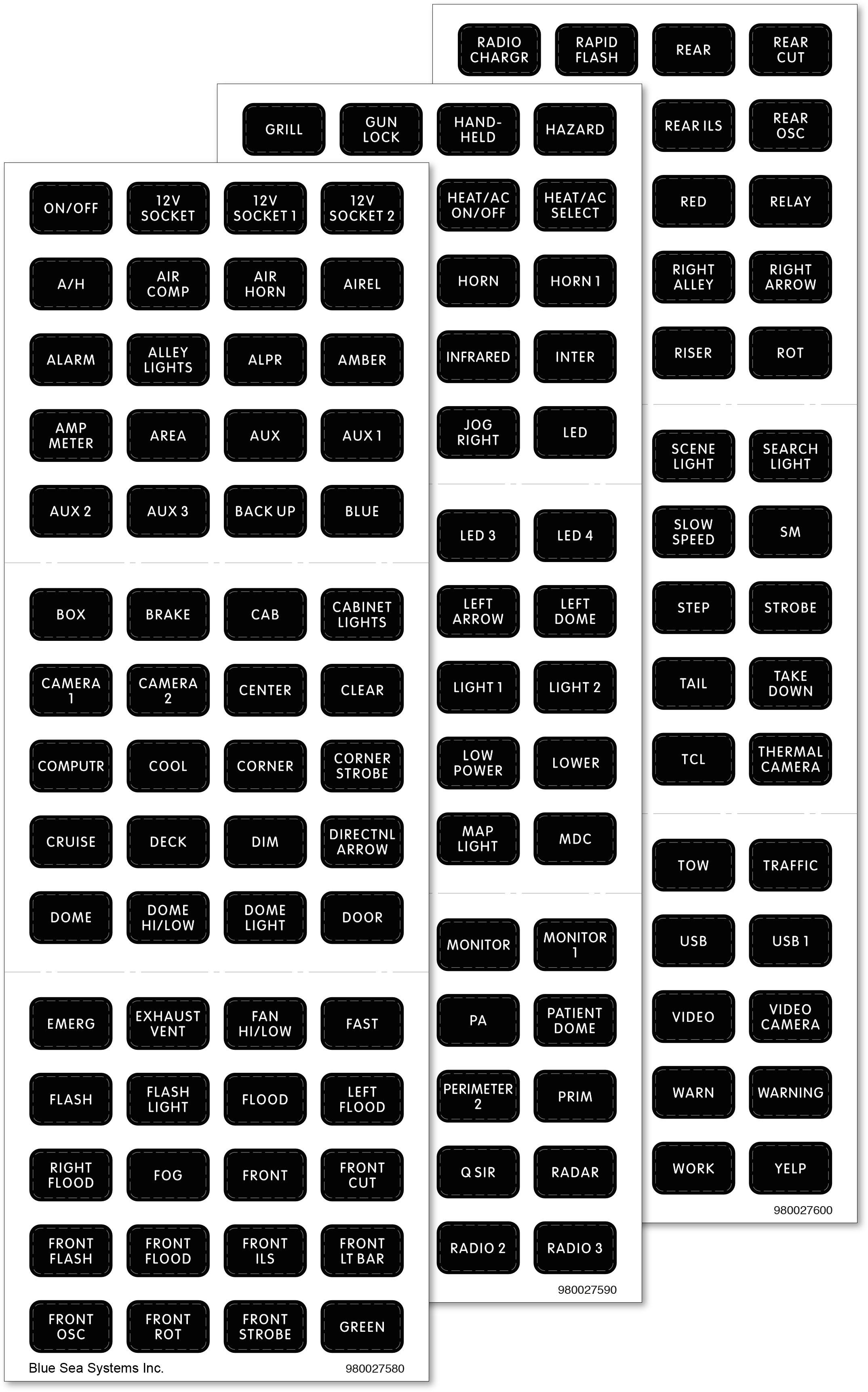 Black 180 Label Set