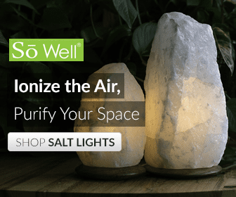 SoWell White Himalayan Salt Lamp Natural Cut