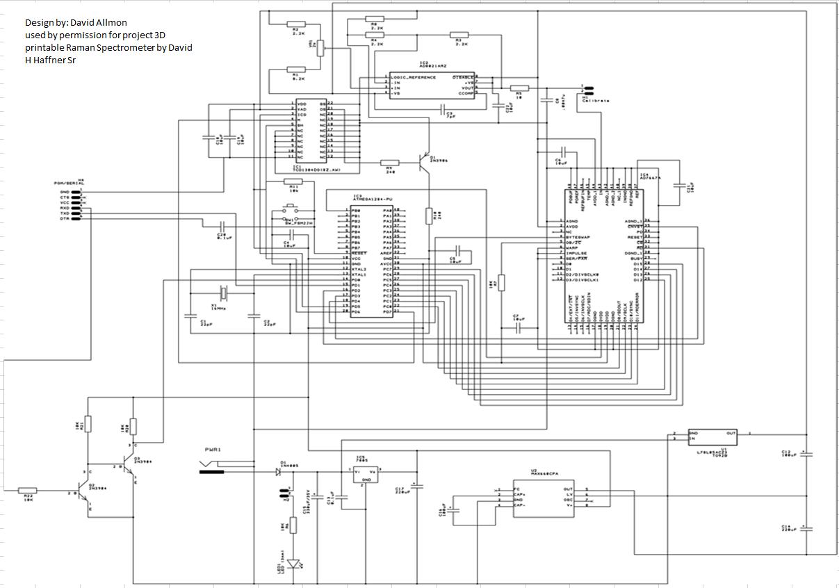 Tcd Dg Driver Circuit Using An Atmega P Mcu